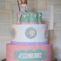 Fishing Themed Baby Shower Cake
