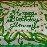 Leaf design sheet cake by Nancys Fancys Cakes & Catering (Nancy Goolsby)