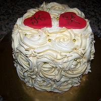 Wedding Anniversary Rose Cake