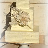 Wedding buttercrem cake