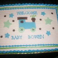 Carter's Train Theme Baby Shower Sheet Cake