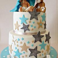 baby and bear cake