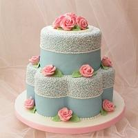 Pink and Blue cake