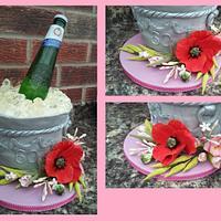 Peroni Champagne ice bucket cake