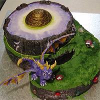 Skylander Spyro cake by CakesbySasi