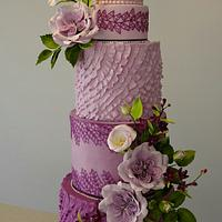 Purple wedding cake ...