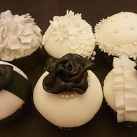 Chanel inspired cupcakes by Essentially Cakes