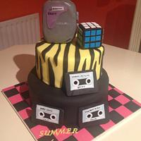 80's mixed tape cake