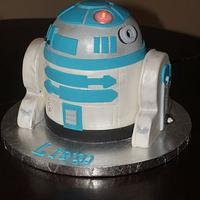 My son's R2D2 cake