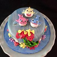 Shark Birthday Cake