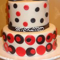 RED & BLACK BIRTHDAY THEMED CAKE by Linda