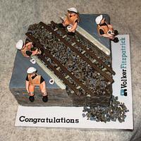 Railway Construction Worker Cake by Carol Vaughan