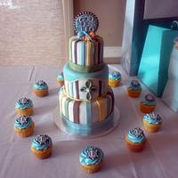 Sweet Little Baptism Cake:)