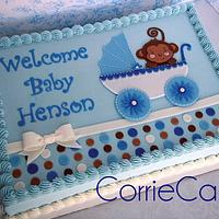 buggy-monkey baby shower by Corrie