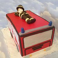 Cake for a fireman! by danida