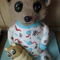 Baby Oleg the meerkat cake