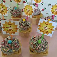 Oreo icecream cupcakes