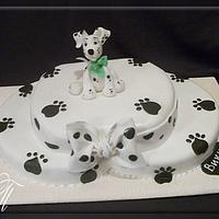 "Cake ""Puppy dolmatinets"""