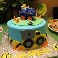 Tonka Truck inspired Cake by Vilma
