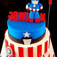 Jordan's Captain America Cake