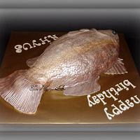 Sea Bass Birthday Cake by Slice of Sweet Art