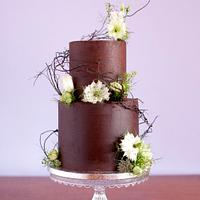 Chocolate lover's wedding cake
