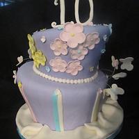 Happy 10th birthday - topsy turvy style