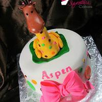 Giraffe Cake by NickySignatureCakes