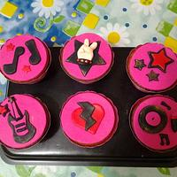 Rock and Roll Cupcakes