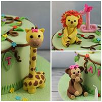 Jungle animal toppers