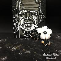Frankenstein collaboration-Frankenstein & his flower mosaic cookies