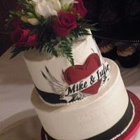 "Heart ""Tattoo"" Wedding cake"