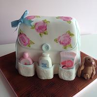 Hand Painted Baby Shower Cake