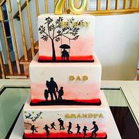 Silhouette cake that tells the story