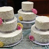 Sugar Dahlia Wedding Cake