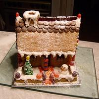 Gingerbread cottage by Niknoknoos Cakery