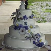 Baseball wedding  by jujucakes