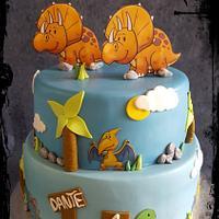 Baby Dino Birthday Cake