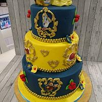 Belle and the beast cake