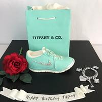 Tiffany Nike shoe and bag cake