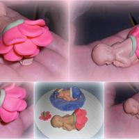 Baby cake topper by Laciescakes