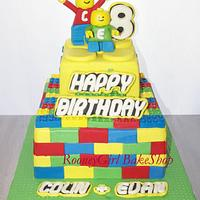 Lego Birthday Cake for Twin Boys