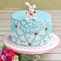 Blue Rabbit Cake