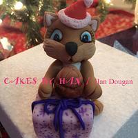 Christmas squirrel .