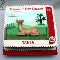 Deer Stamp Cake with modelling Chocolate Doe by Ciccio