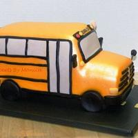 All Aboard Granny's School Bus Birthday Cake! by Sweets By Monica