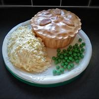 Pie mash and peas