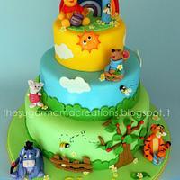 Winnie the Pooh & c. cake