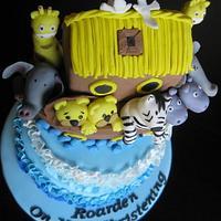 Noah's Ark Christening cake by Jo