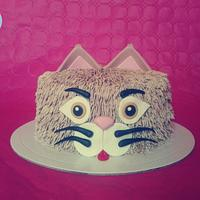Buttercream Cat Cake